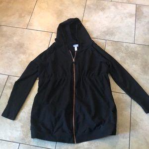 Maternity black zip up jacket
